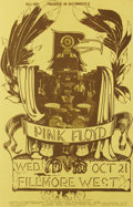 Music Memorabilia:Posters, Pink Floyd Fillmore West Concert Poster #BG230A (Bill Graham, 1970)The fact that this was a mid-week show actually makes th...