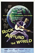 Music Memorabilia:Posters, Rock Around the World One Sheet Movie Poster (AmericanInternational, 1957). . Tommy Steele was undoubtedly Britain'sfirst ...
