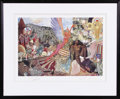 "Music Memorabilia:Autographs and Signed Items, Mati Klarwein ""Annunciation"" Framed Print, Signed by the Artist andCarlos Santana This incredible, intensely detailed image..."