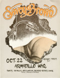 Music Memorabilia:Posters, Savoy Brown Armadillo World Headquarters Concert Poster (1975) Thisrather risque and suggestive poster heralds the return o...