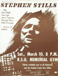 Music Memorabilia:Posters, Stephen Stills Kent State University Concert Poster (1979) One-timeBuffalo Springfield and Crosby Stills Nash and Young mai...