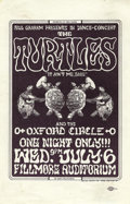 Music Memorabilia:Posters, The Turtles Fillmore Concert Handbill BG15 (Bill Graham, 1966) Oneof the most collected handbills of the Bill Graham series...