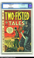 Golden Age (1938-1955):War, Two-Fisted Tales #20 Gaines File pedigree 6/9 (EC, 1951) CGC NM+ 9.6 Off-white pages. Davis, Kurtzman, and Wood art. Fantast...