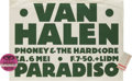 Music Memorabilia:Posters, Van Halen Paradiso Concert Poster (1978). The Van Halen brothers(Eddie and Alex) came roaring back home to their Dutch root...(Total: 3 )