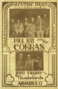 "Music Memorabilia:Posters, Paul Ray and the Cobras/Jimmy Vaughan ""Valentine's Dance"" ConcertPoster (Armadillo World Headquarters, 1977) Hold on to you..."