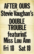 Music Memorabilia:Posters, Stevie Ray Vaughan and Double Trouble After Ours Concert Poster(circa 1979) For a brief period, Stevie Ray Vaughan's band D...