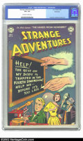 Golden Age (1938-1955):Science Fiction, Strange Adventures #22 Bethlehem pedigree (DC, 1952) CGC VF+ 8.5Off-white to white pages. Overstreet 2002 VF 8.0 value = $2...