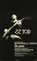 Music Memorabilia:Posters, ZZTop Seattle Center Coliseum Concert Poster (Concerts West, 1974)Texas rockers ZZ Top are known today for having the longe...
