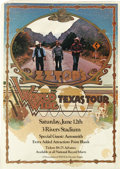 Music Memorabilia:Posters, ZZ Top Three River Stadium Concert Poster (1976) That little ol'band from Texas, ZZ Top, headlined this Pittsburgh show, p...