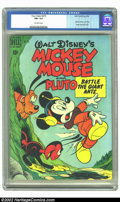 Golden Age (1938-1955):Funny Animal, Four Color #279 (Dell, 1950) CGC FN+ 6.5 Off-white pages. MickeyMouse and Pluto battle the giant ants. Overstreet 2002 FN 6...