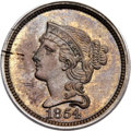Patterns, 1854 P1C One Cent, Judd-161 Original, Pollock-187, R.4, PR63 Red and Brown PCGS....