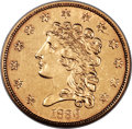 Classic Quarter Eagles, 1836 $2 1/2 Block 8 MS61 NGC. Breen-6142, Variety 8, R.3....