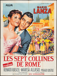 """Seven Hills of Rome (MGM, 1959). French Grande (47"""" X 62.5""""). Drama"""