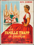 """Movie Posters:Foreign, The Trapp Family in America (Cocinor, 1959). French Grande (47"""" X 62.75""""). Foreign.. ..."""