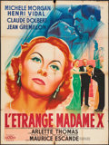 "Movie Posters:Foreign, The Strange Madame X (Cinedis, 1951). French Grande (46.5"" X 62.5""). Foreign.. ..."