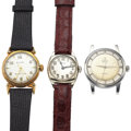 Timepieces:Wristwatch, Zodiac, Gruen & Bulova Wristwatches Runners. ... (Total: 3 Items)