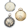 Timepieces:Pocket (post 1900), Three 12 Size Pocket Watches. ... (Total: 3 Items)