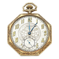 Waltham 17 Jewel 14k Gold Pocket Watch
