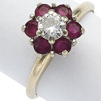 Diamond, Ruby, Gold Ring