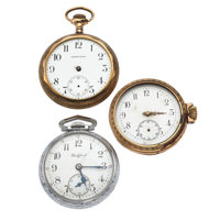 Three Pocket Watches For parts Or Repair