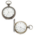 Timepieces:Pocket (pre 1900) , Swiss & E. Howard Key Wind Pocket Watches. ... (Total: 2 Items)