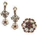 Estate Jewelry:Lots, Ruby, Cultured Pearl, Gold, Gold-Filled Jewelry. ...