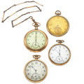 Timepieces:Pocket (post 1900), A Lot Of Four 12 Size Pocket Watches For Parts Or Repair. ...(Total: 4 Items)