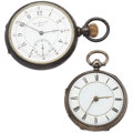 Timepieces:Pocket (post 1900), Gaven Spence & Co & Swiss Silver Pocket Watches. ... (Total: 2 Items)