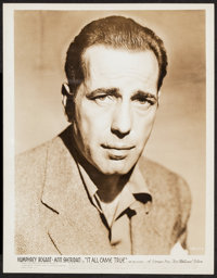 "Humphrey Bogart in It All Came True (Warner Brothers, R-1945). Portrait Photo (8"" X 10""). Crime"