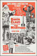 "Movie Posters:Fantasy, Santa Claus Conquers the Martians (Embassy, 1964). One Sheet (27"" X41""). Fantasy.. ..."