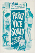 "Movie Posters:Foreign, Paris Vice Squad & Other Lot (Gaston Hakim International, 1958). One Sheet (27"" X 41"") and Poster (30"" X 40""). Foreign.. ... (Total: 2 Items)"
