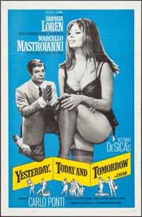 "Yesterday, Today and Tomorrow (Embassy, 1964). One Sheet (27"" X 41""). Foreign"