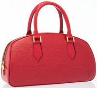 """Louis Vuitton Red Epi Leather Jasmin Bag Very Good to Excellent Condition 12"""" Width x 7"""" Height x"""