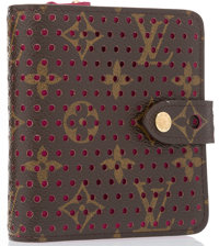 Louis Vuitton Limited Edition Classic Monogram Canvas Perforated Leather Wallet Excellent Condition