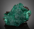 Minerals:Cabinet Specimens, Velvet and Chatoyant Malachite. Bisbee, Warren District, MuleMts., Cochise County, Arizona, USA. ...