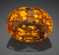 Gems:Faceted, Very Fine Gemstone: Orange Sapphire - 14.35 Ct.. Sri Lanka (Ceylon). ...