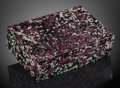 Lapidary Art:Boxes, Rare Eudialyte Box. Artist: Konstantin Libman. StoneSource: Russia. ...