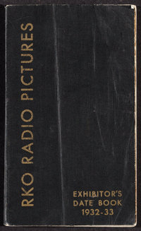 """RKO Exhibitor Date Book (RKO, 1932-1933). Date Book (83 Pages, 4"""" X 6.75""""). Miscellaneous"""