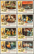 "Movie Posters:Musical, Three for the Show (Columbia, 1954). Lobby Card Set of 8 (11"" X 14""). Musical.. ... (Total: 8 Items)"