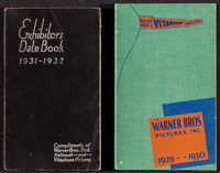 "Warner Brothers Exhibitor Book (Warner Brothers, 1929-1930/1931-1932). Exhibitor Date Books (2) (Multiple Pages, 4""..."