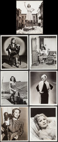 "Movie Posters:Miscellaneous, Loretta Young in Lux Radio Theater & Others Lot (CBS, 1941). Portrait Photos (12) (7.5"" X 9"" & Approx. 8"" X 10"") and Restrik... (Total: 13 Items)"