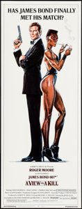 """Movie Posters:James Bond, A View to a Kill (United Artists, 1985). Insert (14"""" X 36""""). James Bond.. ..."""