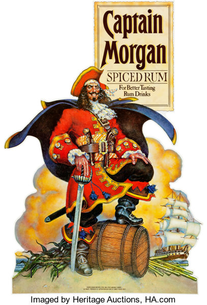 Memorabilia Miscellaneous Don Maitz Captain Morgan Standee Rum Co