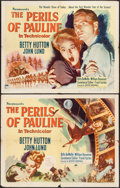 "Movie Posters:Comedy, The Perils of Pauline (Paramount, 1947). Half Sheets (2) (22"" X28"") Style A & B. Comedy.. ... (Total: 2 Items)"
