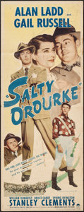 "Movie Posters:Drama, Salty O'Rourke (Paramount, 1945). Insert (14"" X 36""). Drama.. ..."