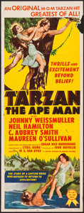 "Movie Posters:Adventure, Tarzan the Ape Man (MGM, R-1954). Insert (14"" X 36""). Adventure....."