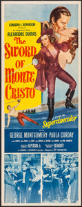 "Movie Posters:Adventure, The Sword of Monte Cristo (20th Century Fox, 1951). Insert (14"" X36""). Adventure.. ..."
