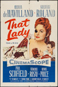 "Movie Posters:Adventure, That Lady (20th Century Fox, 1955). One Sheet (27"" X 41"").Adventure.. ..."