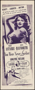 "Movie Posters:Musical, You Were Never Lovelier (Columbia, R-1949). Insert (14"" X 36"").Musical.. ..."