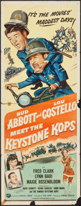 "Movie Posters:Comedy, Abbott and Costello Meet the Keystone Kops (UniversalInternational, 1955). Insert (14"" X 36""). Comedy.. ..."
